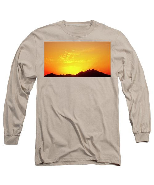 Last Moments Sunset In Africa Long Sleeve T-Shirt