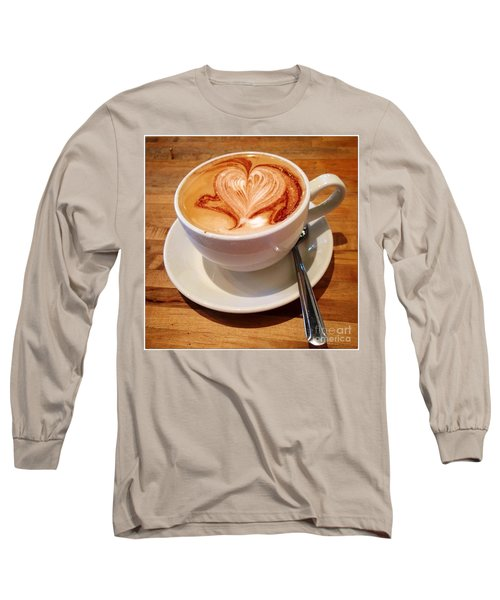 Latte Love Long Sleeve T-Shirt by Susan Garren