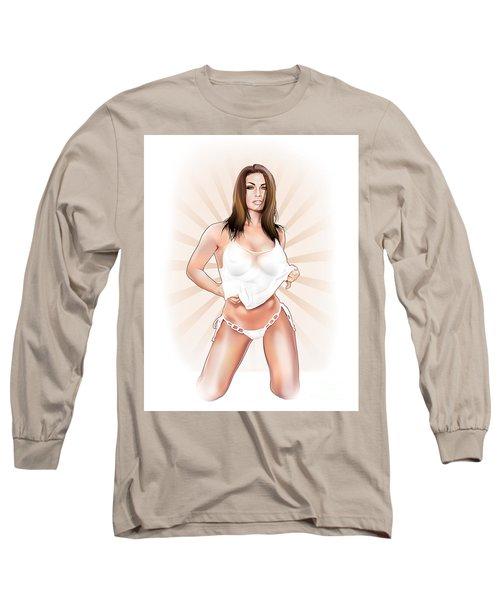 Long Sleeve T-Shirt featuring the digital art Lauren by Brian Gibbs