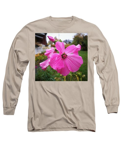Lavatera Flower Long Sleeve T-Shirt