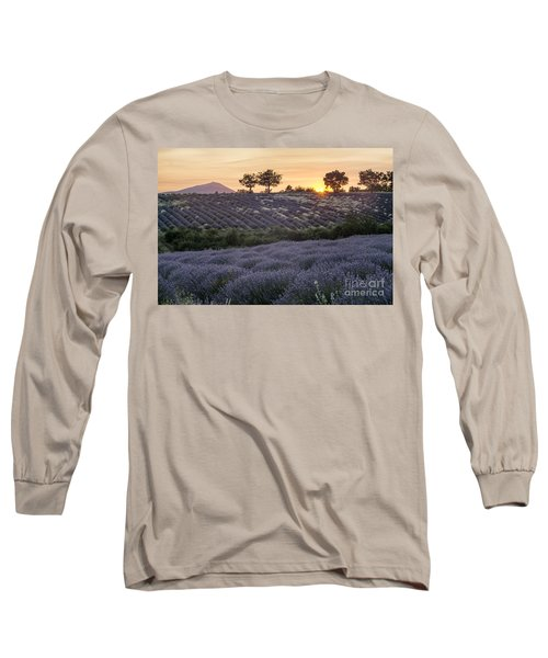 Long Sleeve T-Shirt featuring the photograph Lavender Field Provence  by Juergen Held
