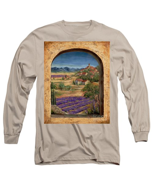 Lavender Fields And Village Of Provence Long Sleeve T-Shirt