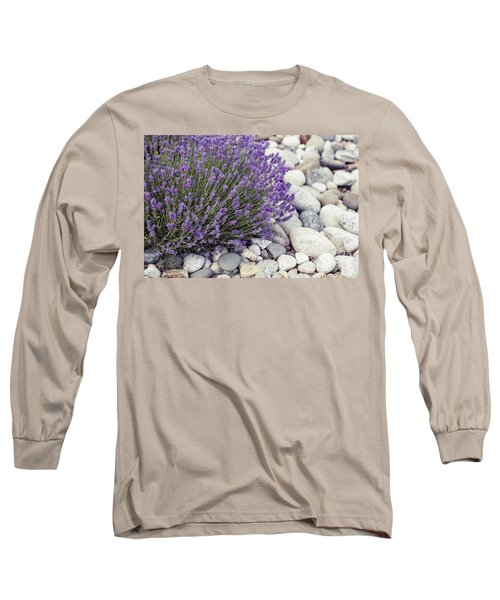 Lavender Flower In The Garden,park,backyard,meadow Blossom In Th Long Sleeve T-Shirt