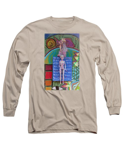 Lavender Herbal Tincture Long Sleeve T-Shirt by Clarity Artists