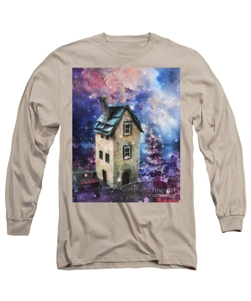 Long Sleeve T-Shirt featuring the painting Lavender Hill by Mo T