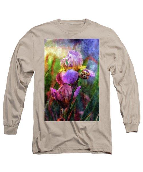 Lavender Iris Impression 0056 Idp_2 Long Sleeve T-Shirt