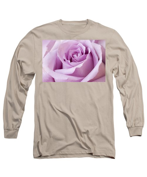 Lavender Rose Just About Perfect  Long Sleeve T-Shirt by Sandra Foster