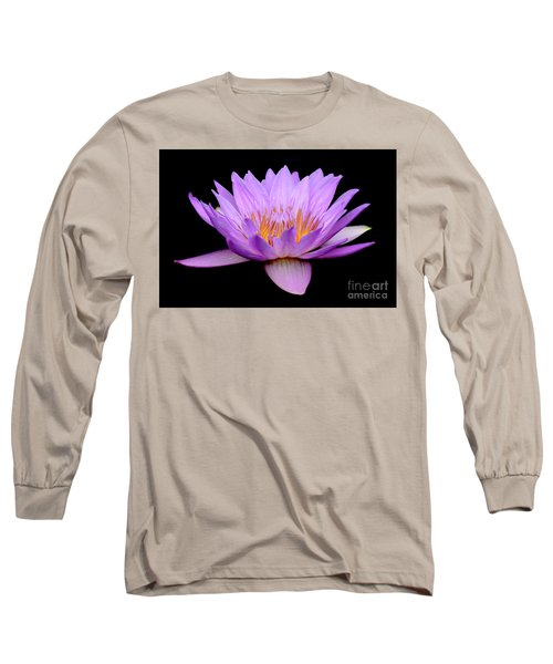 Lavender Tropical Day Lily Long Sleeve T-Shirt