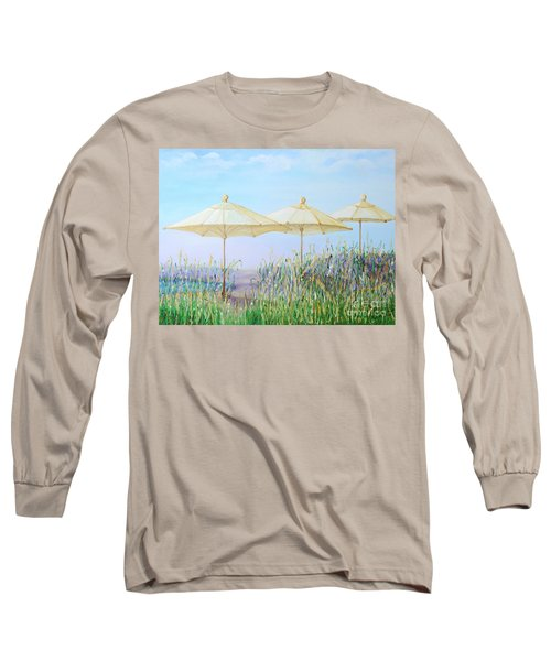 Long Sleeve T-Shirt featuring the painting Lazy Days Of Summer by Barbara Anna Knauf