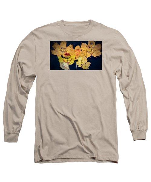 Leaf Family Long Sleeve T-Shirt by Jana E Provenzano