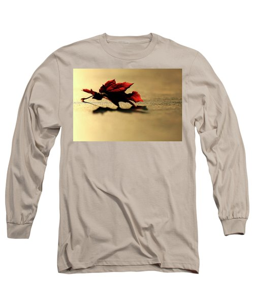 Leaf On The Garage Floor Long Sleeve T-Shirt