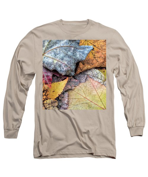 Leaf Pile Up Long Sleeve T-Shirt by Todd Breitling