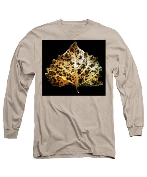 Leaf With Green Spots Long Sleeve T-Shirt by Joseph Frank Baraba