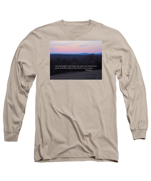 Leap In The Dark Long Sleeve T-Shirt by Deborah Dendler