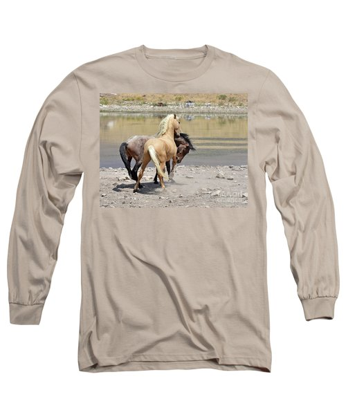 Long Sleeve T-Shirt featuring the photograph Learning To Fight by Lula Adams