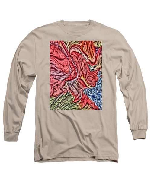 Leaves And Grapes Long Sleeve T-Shirt by Vickie G Buccini