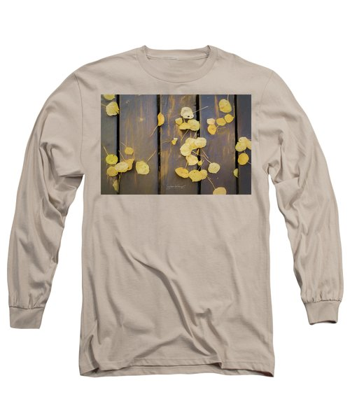 Leaves On Planks Long Sleeve T-Shirt