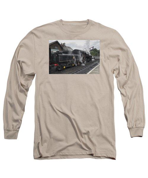 Leaving Grosmont Long Sleeve T-Shirt by David  Hollingworth