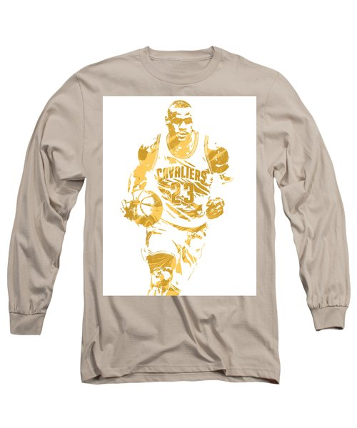 Lebron James Cleveland Cavaliers Pixel Art 7 Long Sleeve T-Shirt