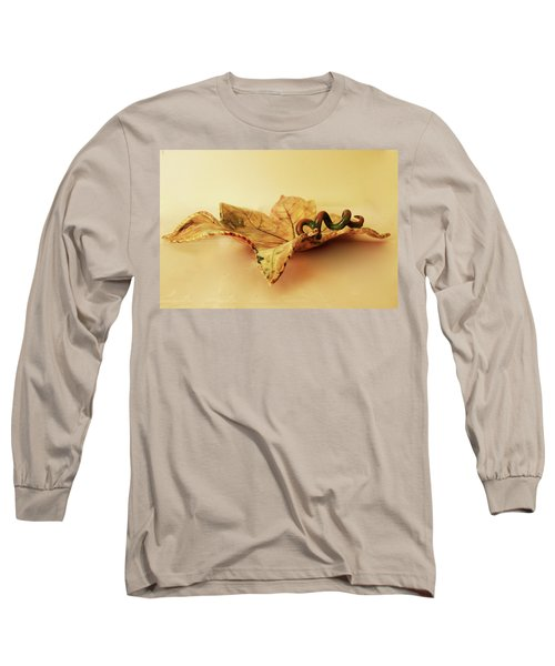 Long Sleeve T-Shirt featuring the photograph Leaf Plate 1 by Itzhak Richter