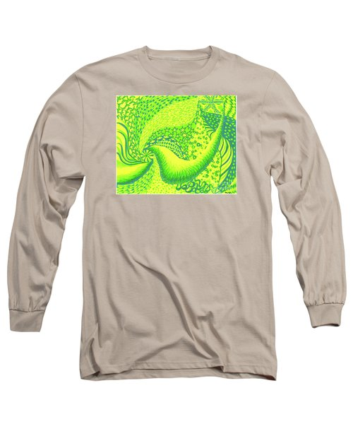 Long Sleeve T-Shirt featuring the drawing Lemon Lime by Kim Sy Ok