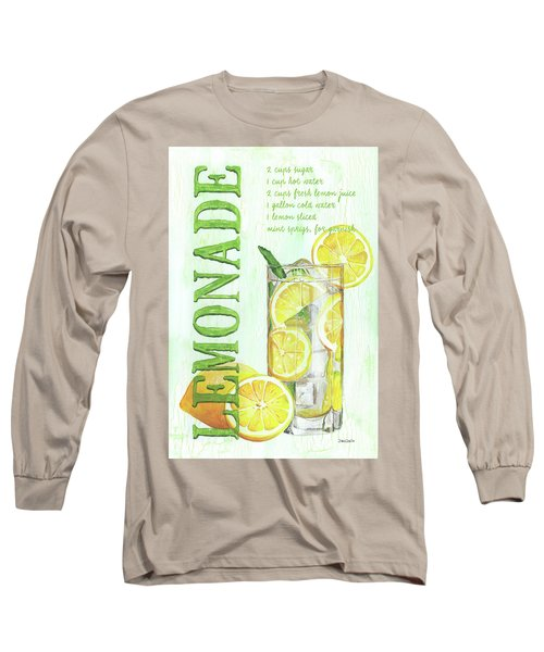 Long Sleeve T-Shirt featuring the painting Lemonade by Debbie DeWitt