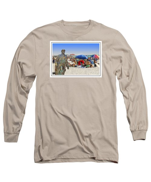 Lenin Goes To The Beach White Border Long Sleeve T-Shirt