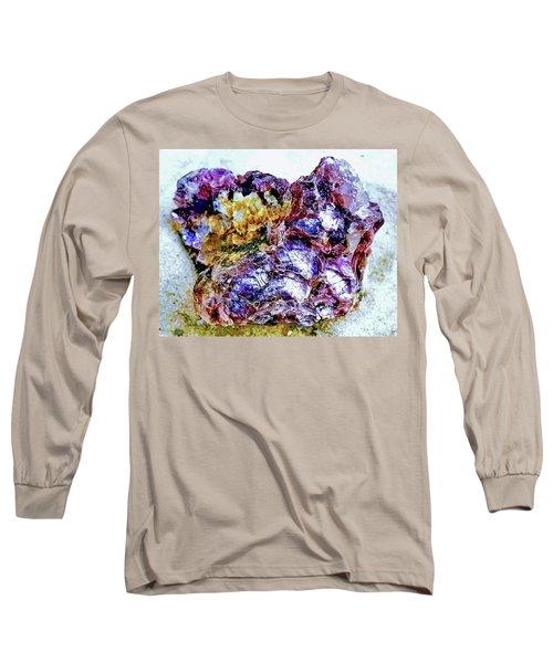 Lepidolite Long Sleeve T-Shirt by Rachel Hannah