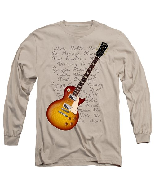 Les Paul Songs T-shirt Long Sleeve T-Shirt