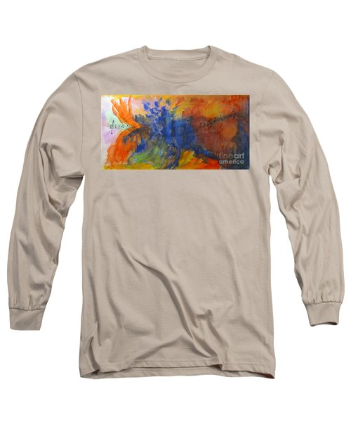 Let Your Music Take Wing Long Sleeve T-Shirt by Sandy McIntire