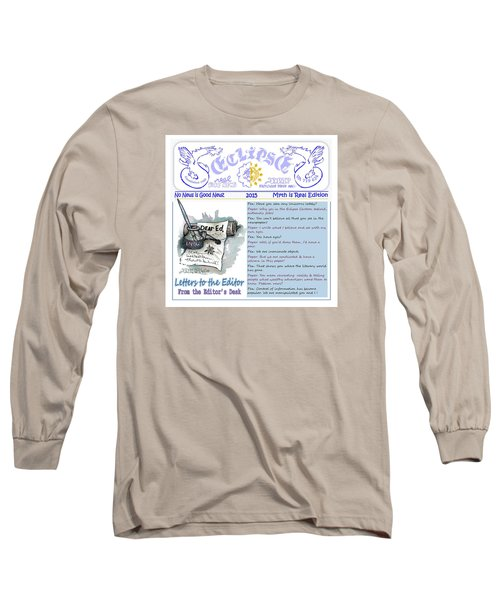 Real Fake News Letters To The Editor Long Sleeve T-Shirt