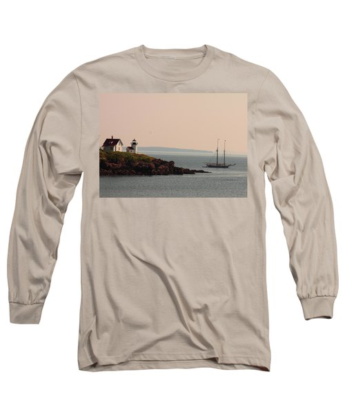 Lewis R French At The Curtis Island Lighthouse Long Sleeve T-Shirt