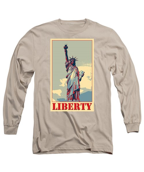 Long Sleeve T-Shirt featuring the photograph Liberty by Richard Reeve
