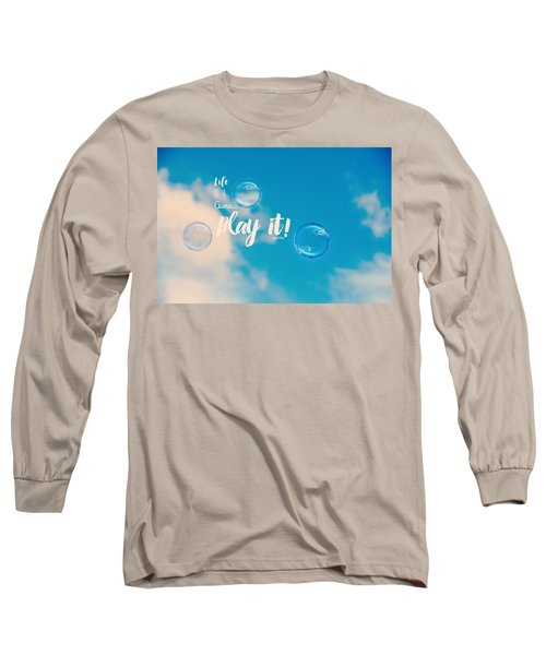 Life Is A Game Long Sleeve T-Shirt by Robin Dickinson
