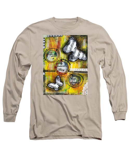 Life Is A Musical Thing Long Sleeve T-Shirt by Stanka Vukelic
