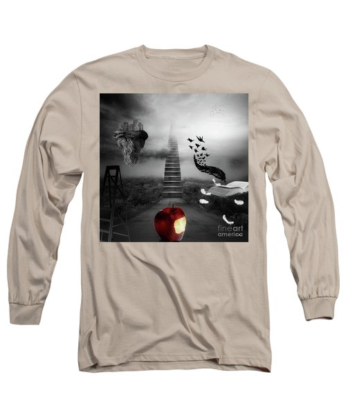 Long Sleeve T-Shirt featuring the digital art Life Is A Stage by Mo T