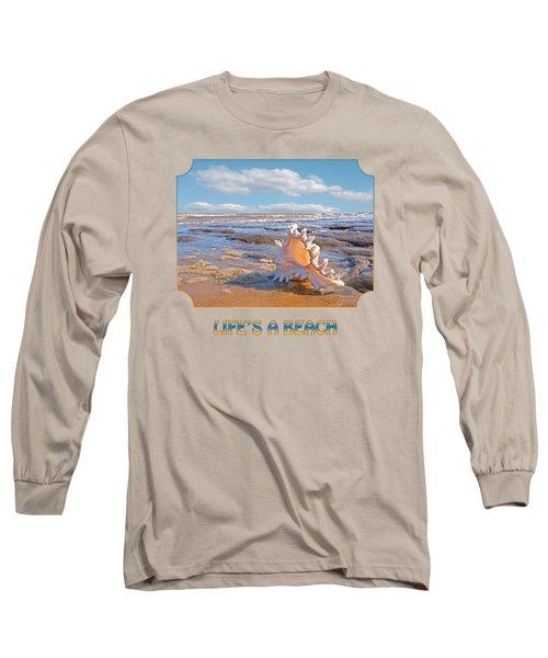 Life's A Beach - Murex Ramosus Seashell - Square Long Sleeve T-Shirt