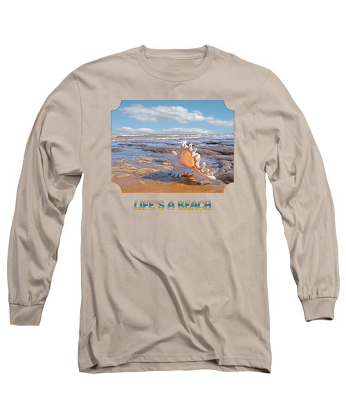 Life's A Beach - Murex Ramosus Seashell - Square Long Sleeve T-Shirt