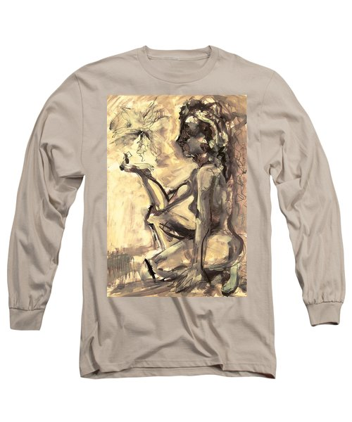 Light And Shadow Long Sleeve T-Shirt by Mary Schiros