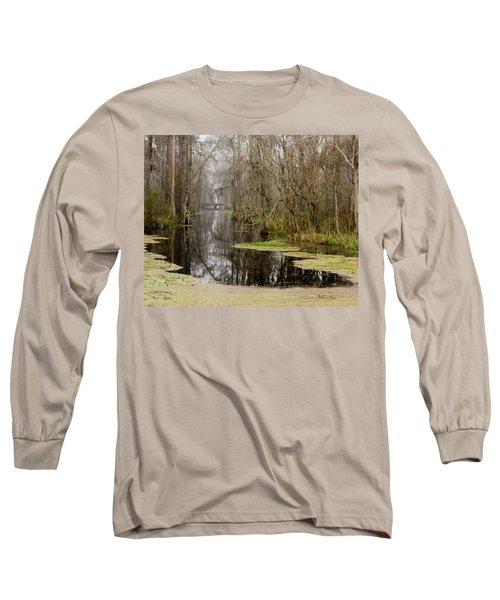 Light Fog On The Swamp Long Sleeve T-Shirt