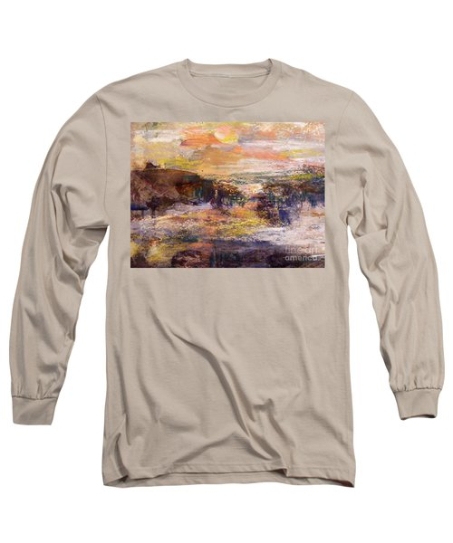 Light Show At Dawn Long Sleeve T-Shirt by Nancy Kane Chapman