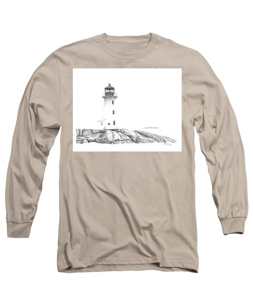 Lighthouse Of Peggy's Cove Long Sleeve T-Shirt by Patricia Hiltz