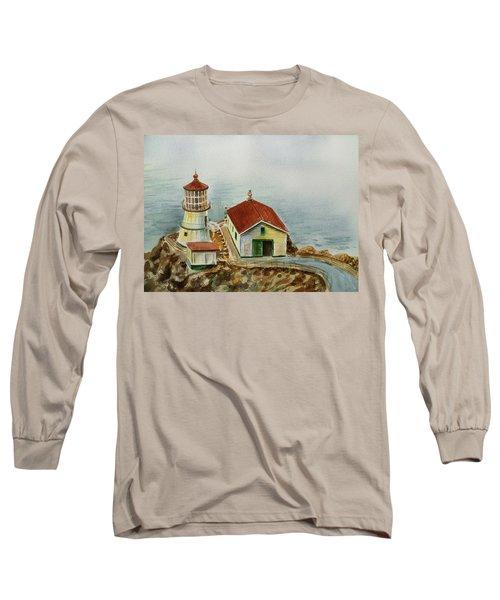 Lighthouse Point Reyes California Long Sleeve T-Shirt