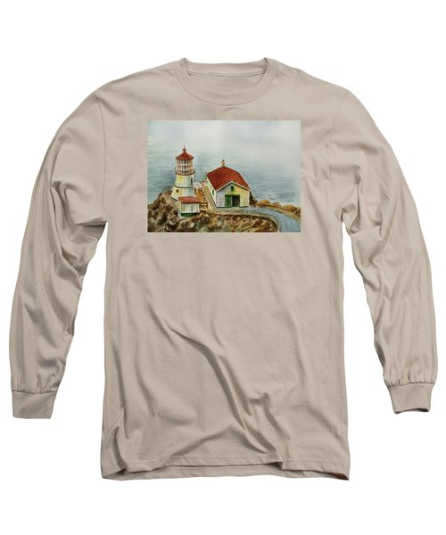 Lighthouse Point Reyes California Long Sleeve T-Shirt