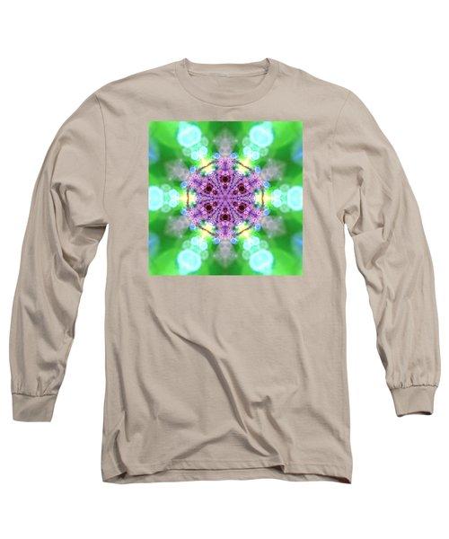Long Sleeve T-Shirt featuring the digital art Lightmandala 6 Star 3 by Robert Thalmeier