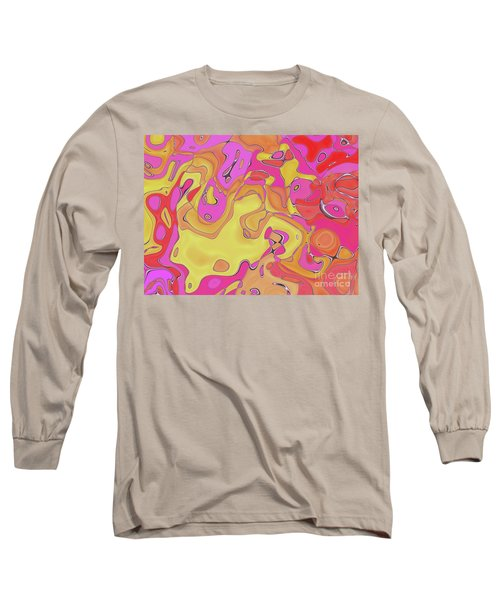 Long Sleeve T-Shirt featuring the digital art Lignes En Folie - 08a by Variance Collections
