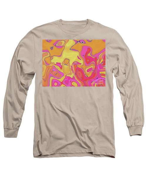 Long Sleeve T-Shirt featuring the digital art Lignes En Folies - 05a by Variance Collections