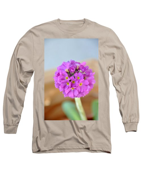 Long Sleeve T-Shirt featuring the photograph Single Pink Flower by Marion McCristall
