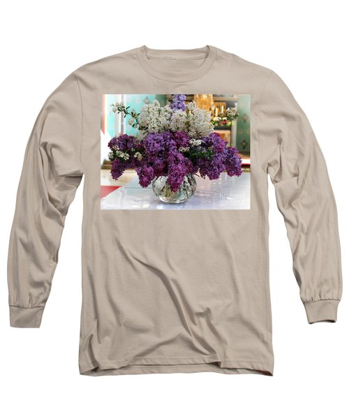 Lilac Bouquet Long Sleeve T-Shirt