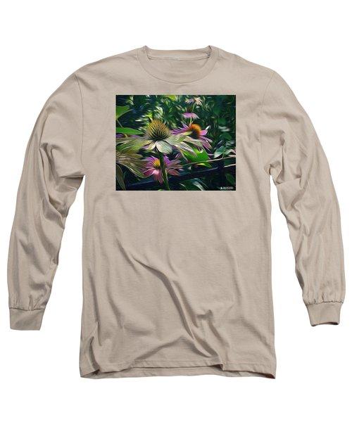 Long Sleeve T-Shirt featuring the digital art Lil's Garden by Phil Mancuso